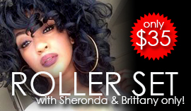 $35 Roller Set Special